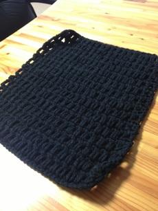 模様編みで31段。