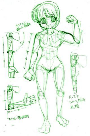 腕の描き方サンプル