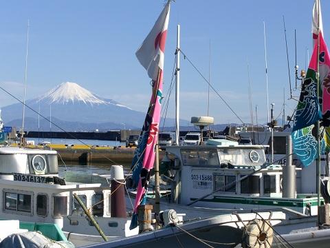 小川港からの富士山