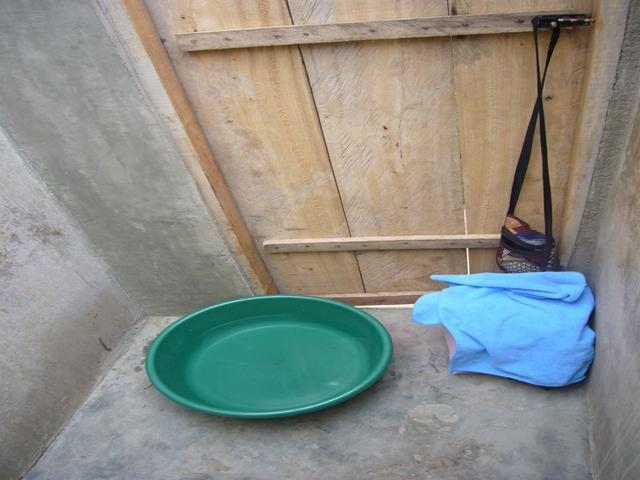 水浴びスペース