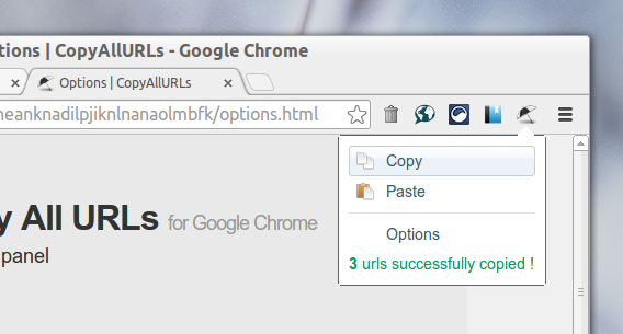 Copy All Urls Chrome タブのURLをコピー