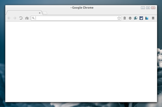Empty New Tab Page Chrome 新しいタブ 空白