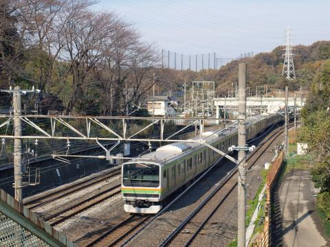 東戸塚から見た東海道本線の写真2