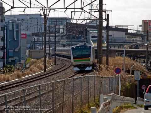 東戸塚駅近くより撮影した東海道本線 E233系電車