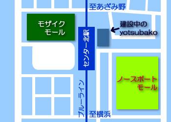 センター北駅の周辺地図