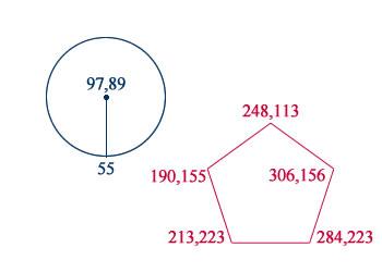 座標:矩形以外の形