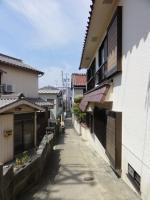 日間賀島内の町並み