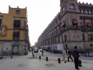 スペイン時代の名残の町並み