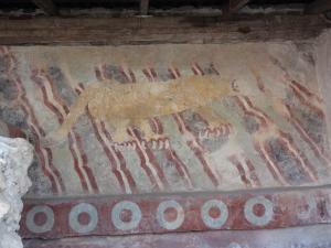 保存状態の良かったジャガーの壁画