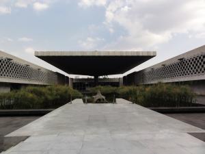 Mexico人類学博物館内