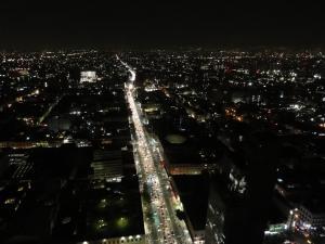 ラテンアメリカタワーから見るMexico夜景