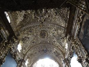 プエブラ州のカテドラル内 天井