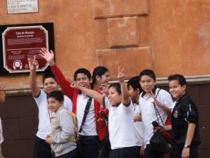 Mexicoの人懐っこい子供たち