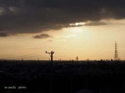 高台からの朝日