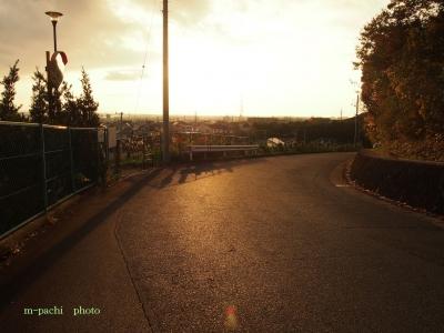 高台からの朝日2