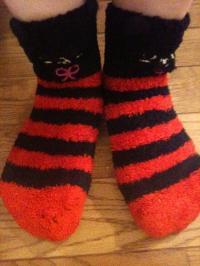 例えばこんな靴下で