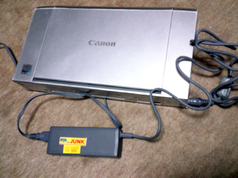 CANON ip90V と電源