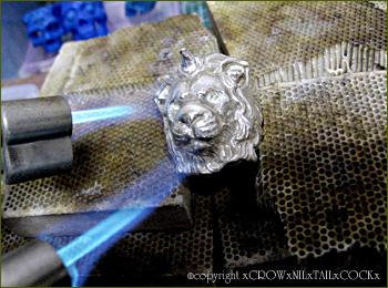 ライオンリング Silver925×K18
