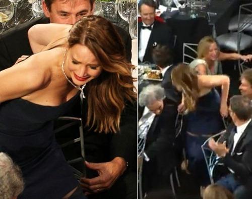 Jennifer Lawrence wardrobe malfunction SAG Awards 02