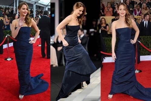Jennifer Lawrence wardrobe malfunction SAG Awards 07