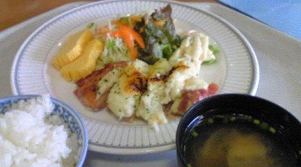 20101116病院でのランチ鶏のクリーム焼き