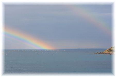 11月12日のいるか浜の虹②