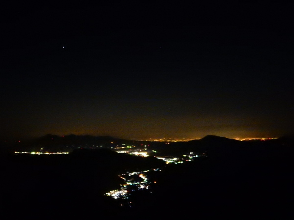 谷川岳夜景
