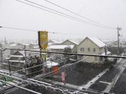 津山市街地の雪