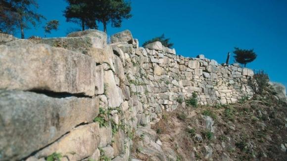 鬼ノ城の石垣