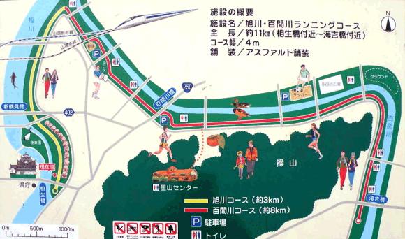 旭川・百間川ランニングコース