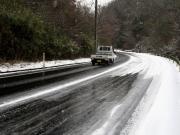 凍結した路面 イメージ