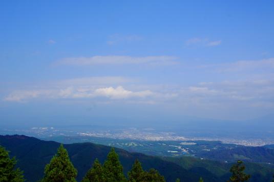 白鳥山公園 頂上 景色