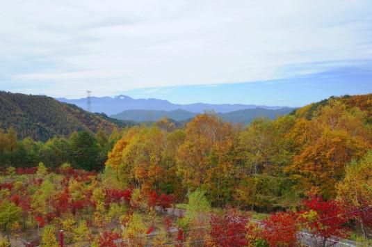 紅葉 みずがき山 山々