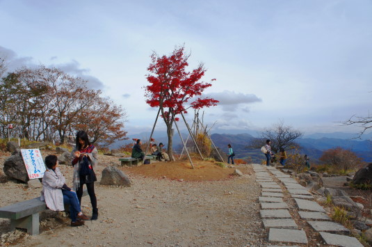 紅葉 美し森 頂上東