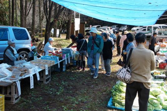 黒平ほうとう祭り 野菜売り場