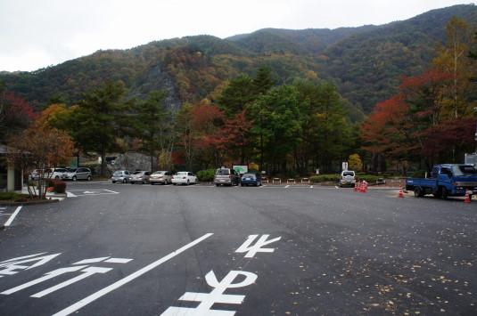 紅葉 広瀬ダム 駐車場