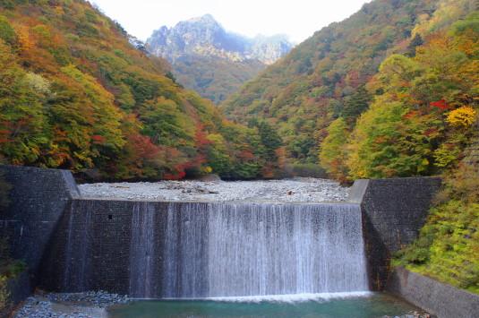 紅葉 西沢渓谷 二俣吊り橋 山