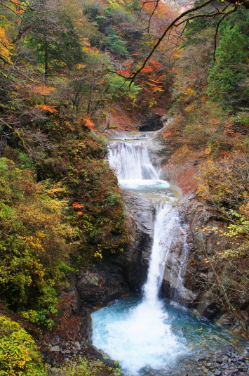 紅葉 西沢渓谷 七ツ釜五段の滝