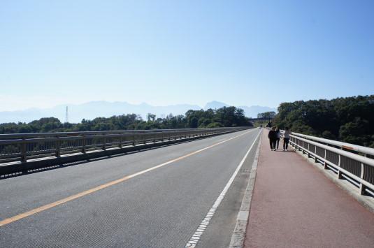 紅葉 八ヶ岳高原大橋 橋の上