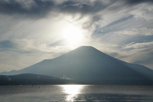 ダイヤモンド富士山中湖 太陽の位置