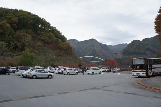 紅葉 みずがき湖 駐車場