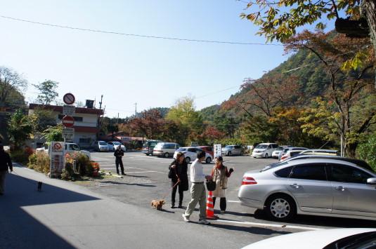 紅葉 昇仙峡 覚円峰付近 駐車場
