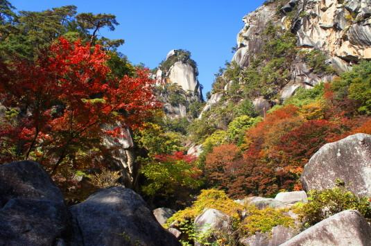 紅葉 昇仙峡 覚円峰付近