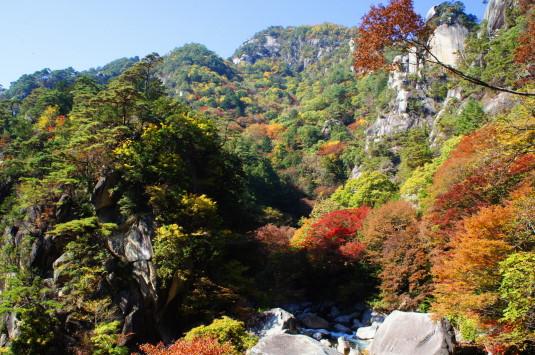 紅葉 昇仙峡 覚円峰付近 紅葉2