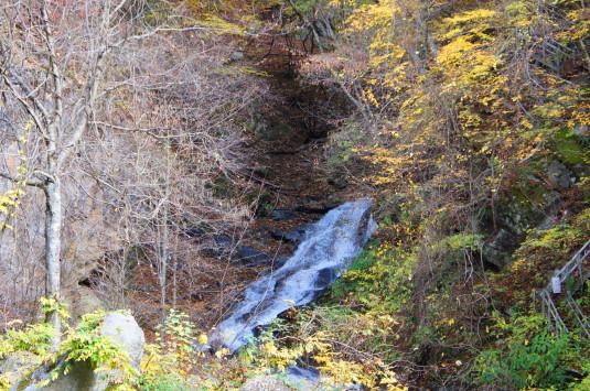 紅葉 竜門峡 落合三つの滝