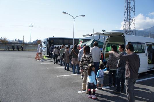 富士川祭り シャトルバス待ち