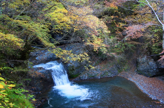 紅葉 大柳川渓谷 天渕の滝