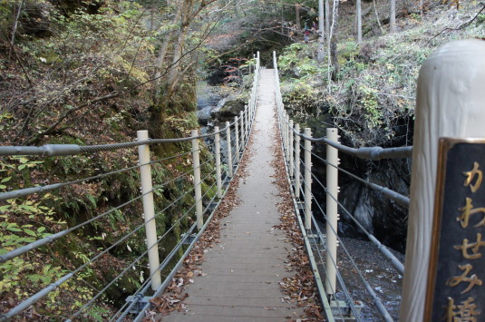 紅葉 大柳川渓谷 かわせみ橋
