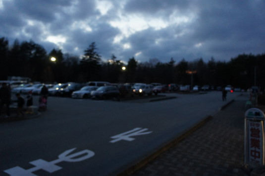 イルミネーション 花の都公園 駐車場