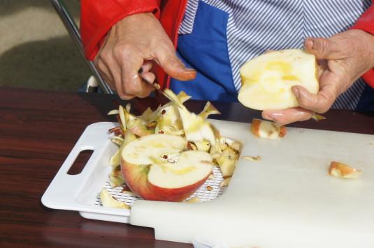 津金のリンゴ祭り 蜜入り